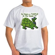 Male Turtle Ash Grey T-Shirt