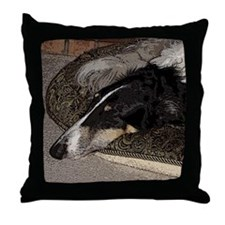 Sleeping Borzoi Throw Pillow