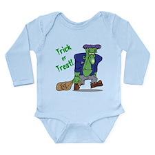 Trick or Treat Frankenstein Long Sleeve Infant Bod