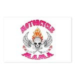 MotorCycle Mama' Winged Skull Postcards (Package o