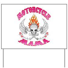 MotorCycle Mama' Winged Skull Yard Sign