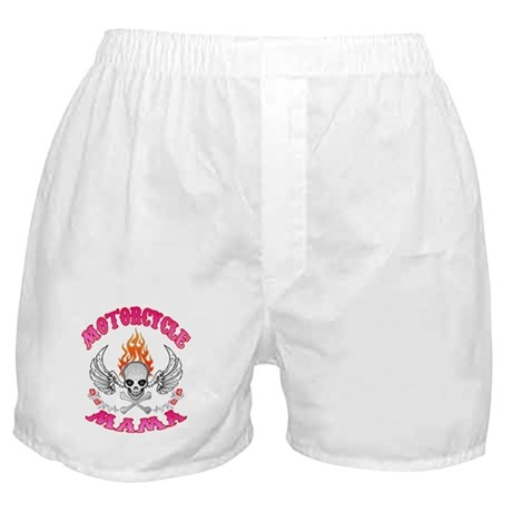 MotorCycle Mama' Winged Skull Boxer Shorts