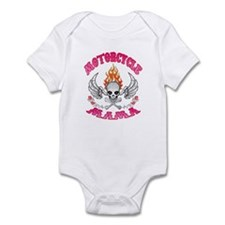 MotorCycle Mama' Winged Skull Infant Bodysuit