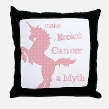 Breast Cancer Myth Throw Pillow
