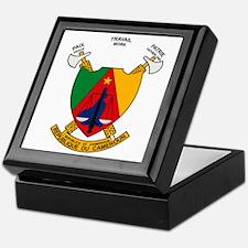 Cameroon Coat of Arms Keepsake Box