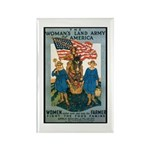 Woman's Land Army Rectangle Magnet