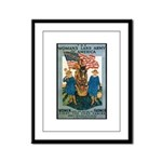 Woman's Land Army Framed Panel Print