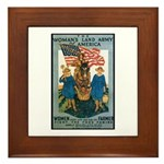 Woman's Land Army Framed Tile