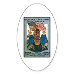 Woman's Land Army Oval Sticker