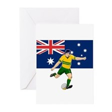 Rugby player kicking Greeting Cards (Pk of 20)