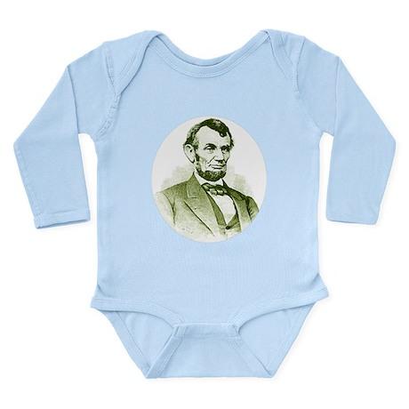 Abe Lincoln Long Sleeve Infant Bodysuit