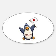 Japan Penguin Bumper Stickers