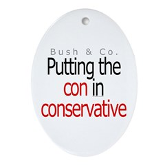 Con in conservative Oval Ornament