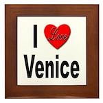 I Love Venice Italy Framed Tile
