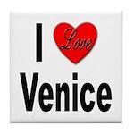 I Love Venice Italy Tile Coaster