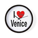 I Love Venice Italy Wall Clock