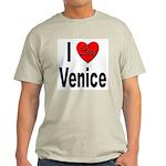 I Love Venice Italy (Front) Ash Grey T-Shirt