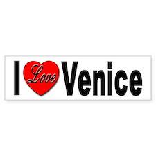 I Love Venice Italy Bumper Bumper Sticker