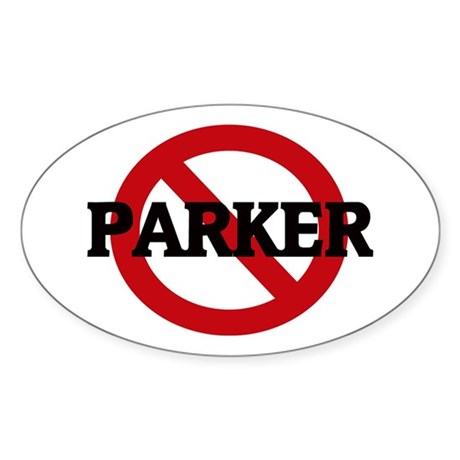 Anti-Parker Oval Sticker