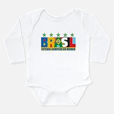 Brazilian World cup soccer Long Sleeve Infant Body