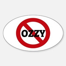 Anti-Ozzy Oval Decal