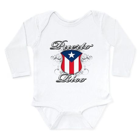 Puerto rican pride Long Sleeve Infant Bodysuit