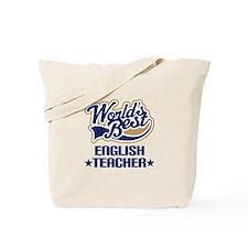 Worlds Best English Teacher Tote Bag