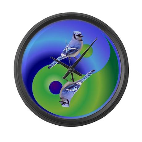 Blue Jay Large Wall Clock