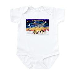 Xmas Sunrise - Five Dogs Infant Bodysuit