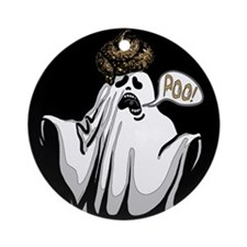 Ghost Goes Poo Ornament (Round)