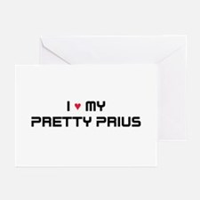 Pretty Prius Greeting Cards