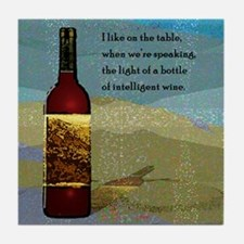 Ode To Wine Art Tile