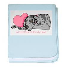 Merle UC Holds Heart Infant Blanket