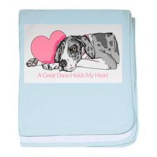 MerleB UC Holds Heart Infant Blanket