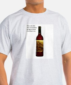 Ode To Wine Ash Grey T-Shirt
