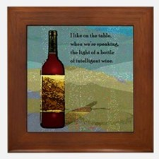 Ode To Wine Framed Tile