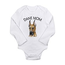 Brindle Dane Mom Long Sleeve Infant Bodysuit