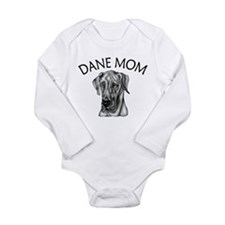 Black UC Dane Mom Long Sleeve Infant Bodysuit