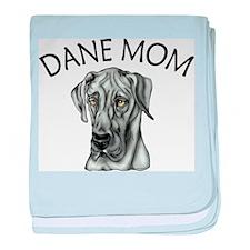 Black UC Dane Mom Infant Blanket