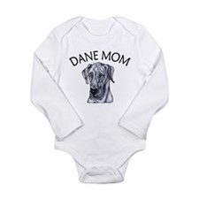 Blue UC Dane Mom Long Sleeve Infant Bodysuit