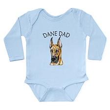 Brindle Dane Dad Long Sleeve Infant Bodysuit