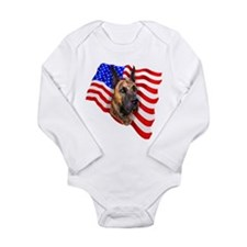 Brindle Patriot Dane Long Sleeve Infant Bodysuit