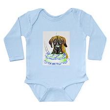 Dane Birthday Brindle UC Long Sleeve Infant Bodysu
