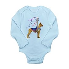 Great Dane Brindle Carousel Long Sleeve Infant Bod