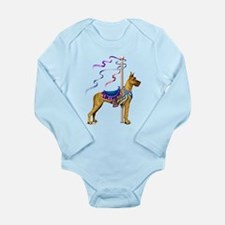 Great Dane Brindle Carousel Long Sleeve Infant Bod