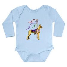 Great Dane Fawn Carousel Long Sleeve Infant Bodysu