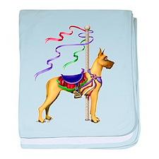 Great Dane Fawn Carousel Infant Blanket