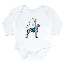 Great Dane Blue UC Carousel Long Sleeve Infant Bod