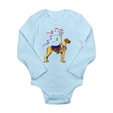 Great Dane Fawn UC Carousel Long Sleeve Infant Bod