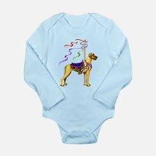 Great Dane Fawn UC Carousel Long Sleeve Infant Bod